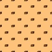 Brownie Sweet Desserts Seamless Pattern