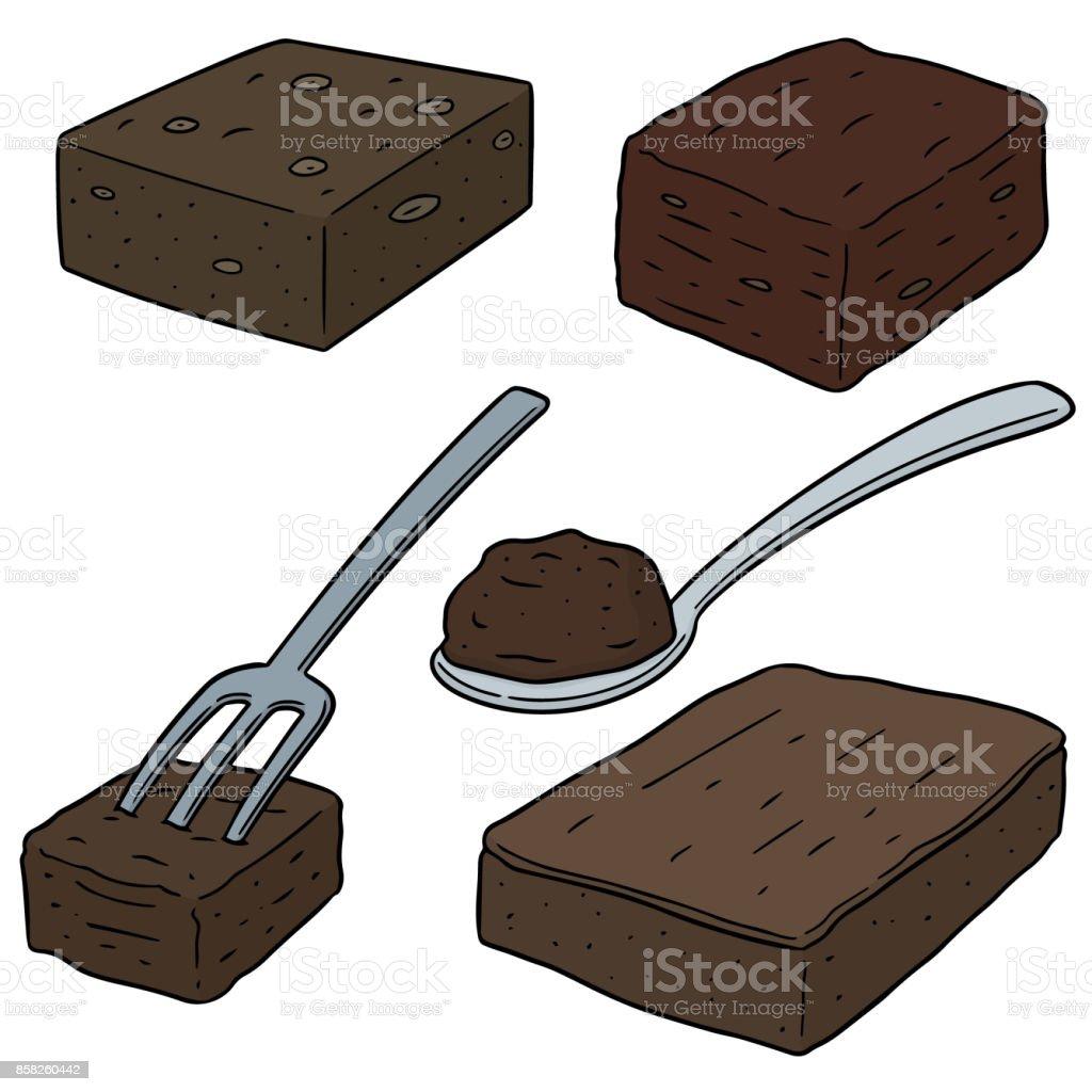 brownie vector art illustration