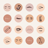 """Brows and lashes highlight covers social media icons""""n"""