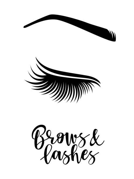 眉毛和睫毛標誌 - 睫毛 幅插畫檔、美工圖案、卡通及圖標