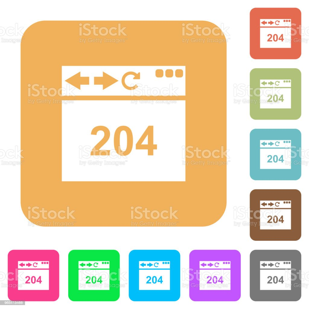 Browser 204 no content rounded square flat icons royalty-free browser 204 no content rounded square flat icons stock vector art & more images of applying