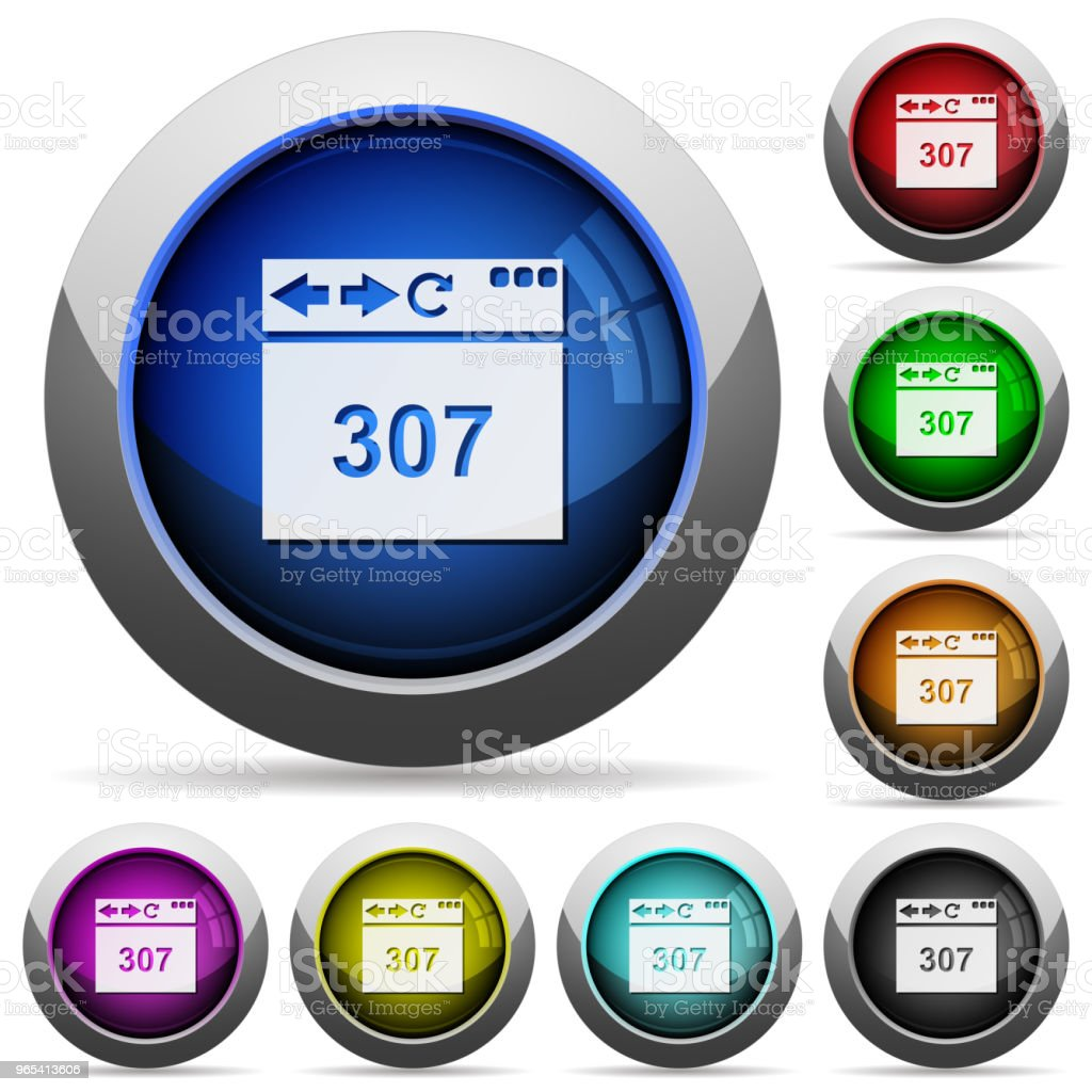 Browser 307 temporary redirect round glossy buttons browser 307 temporary redirect round glossy buttons - stockowe grafiki wektorowe i więcej obrazów błyszczący royalty-free