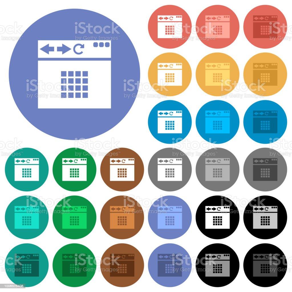 ラウンド フラット マルチ ブラウザーのホーム画面アイコンの色 Guiのベクターアート素材や画像を多数ご用意 Istock