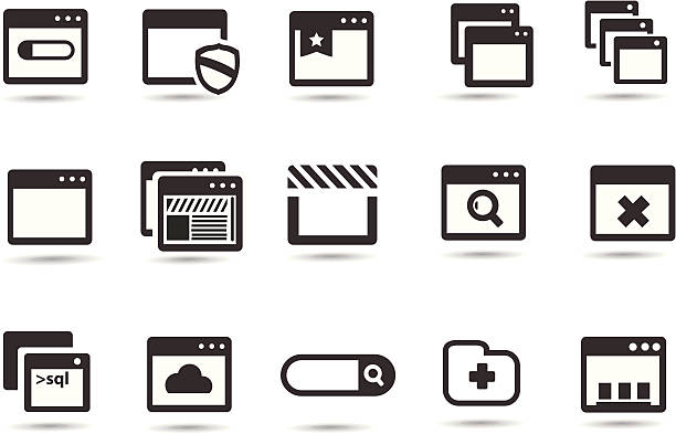 Browser Icons Professional Vector Icons with High resolution jpeg and transparent PNG file.    web browser stock illustrations