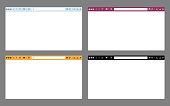 Internet browser mockup in vector.