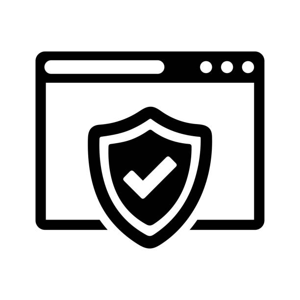 Browser protection, web Security icon Well organized and fully editable Browser protection, web Security icon for any use like print media, web, commercial use or any kind of design project. Hope this icon help you. Thanks for using it. antivirus software stock illustrations