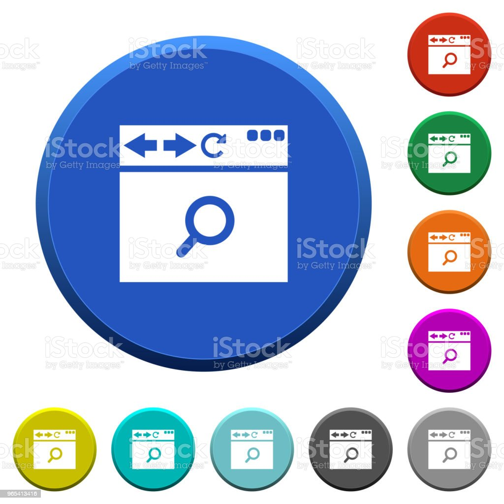 Browser search beveled buttons royalty-free browser search beveled buttons stock vector art & more images of applying