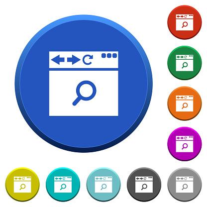브라우저 검색 베벨된 버튼 검색에 대한 스톡 벡터 아트 및 기타 이미지
