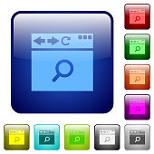 Browser search color square buttons