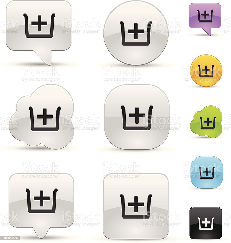 Browser Tab icon set royalty-free stock vector art