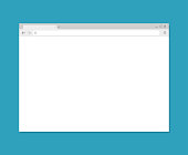 Browser window. Browser in flat style. Vector vector