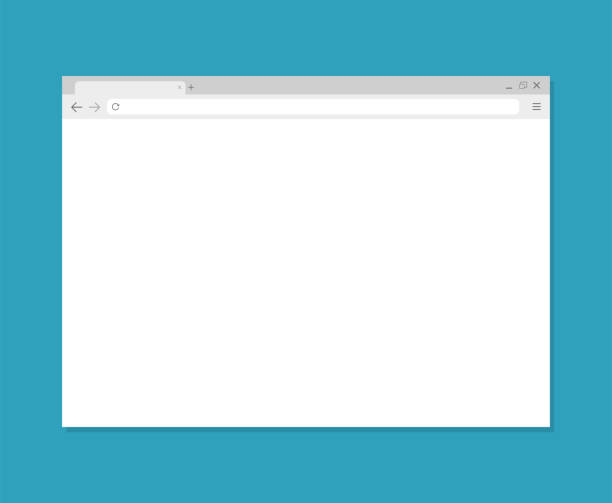 Browser window. Browser in flat style. Vector vector Browser window. Browser in flat style. Vector vector desktop pc stock illustrations