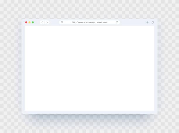 ウェブサイト、ラップトップ、コンピュータのための光のテーマのブラウザウィンドウテンプレート。デスクトップ、パッド、スマートフォン用のブラウザウィンドウの空のページコンセプ� - webサイト点のイラスト素材/クリップアート素材/マンガ素材/アイコン素材