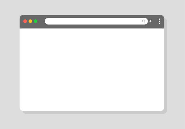 Browser window. Vector browser window designed to be simple for modern websites Browser window. Vector browser window designed to be simple for modern websites web browser stock illustrations