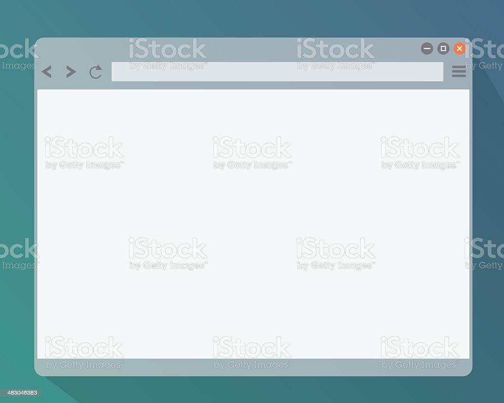 Janela do navegador - ilustração de arte em vetor