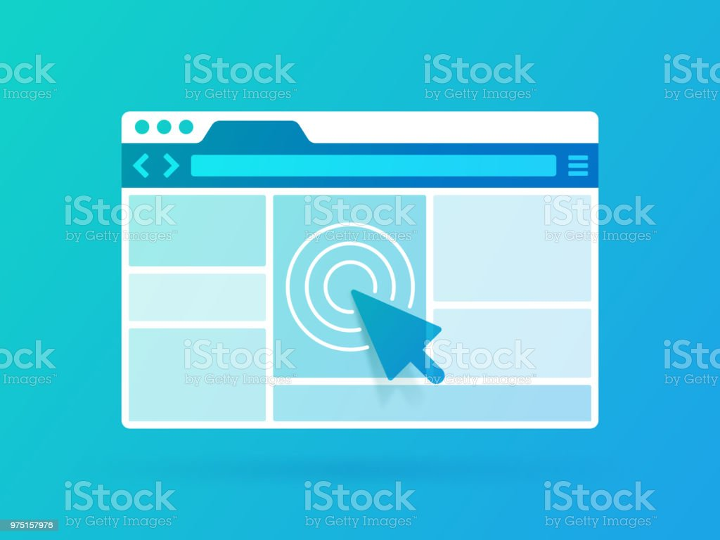 Browser Window Browser window frame design. Web Page stock vector