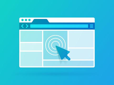 Browser window frame design.