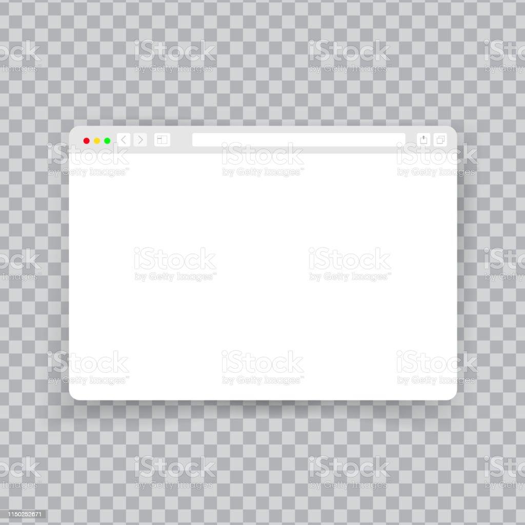 Browser Window Web Interface Mock Screen Internet Document Mockup