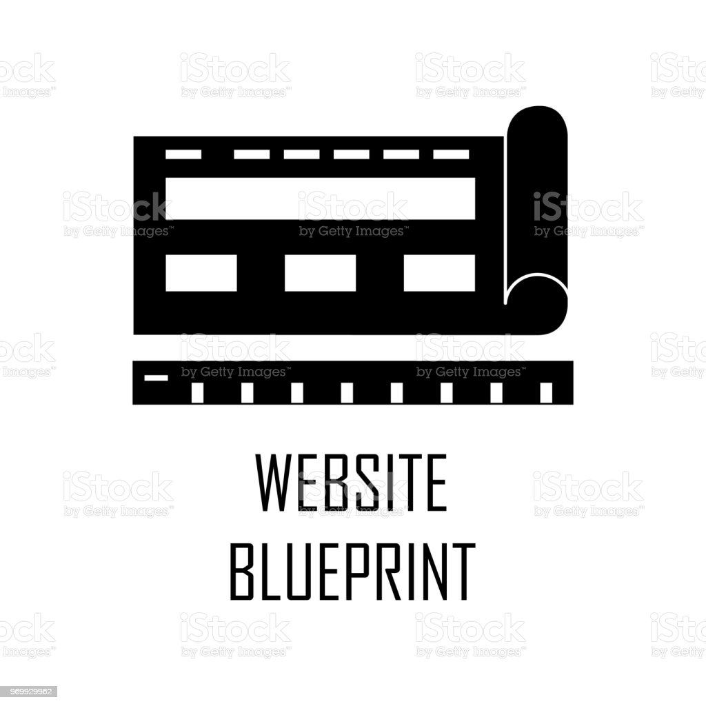 Browsersite blueprint icon element of web development for mobile browsersite blueprint icon element of web development for mobile concept and web apps detailed malvernweather Images