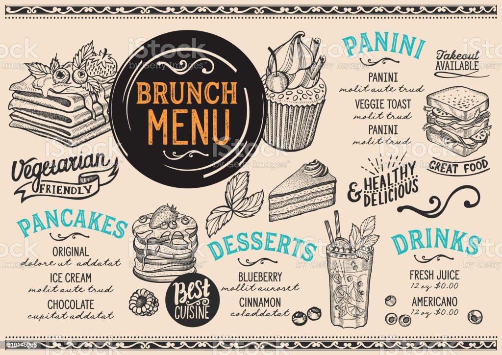 brunch menu templates free download champlain college publishing. Black Bedroom Furniture Sets. Home Design Ideas