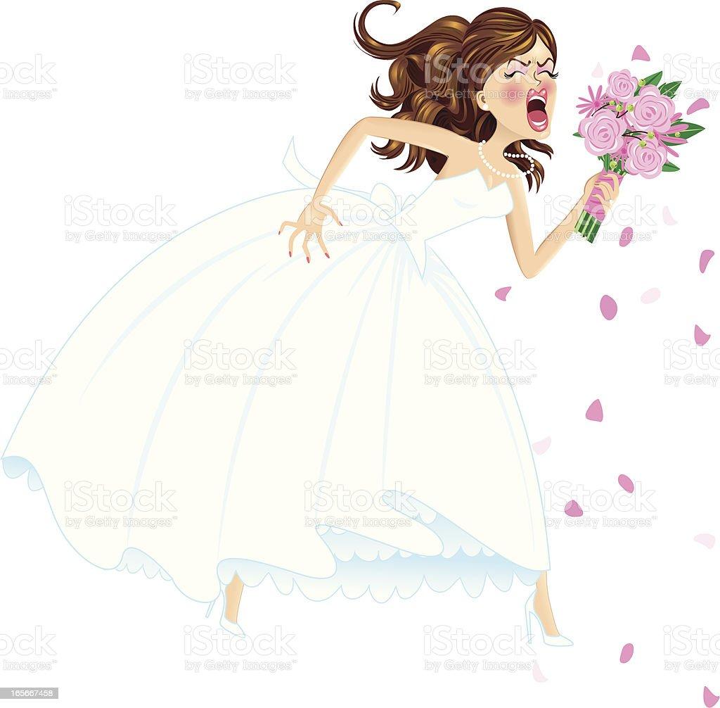 Brunette Bridezilla royalty-free stock vector art