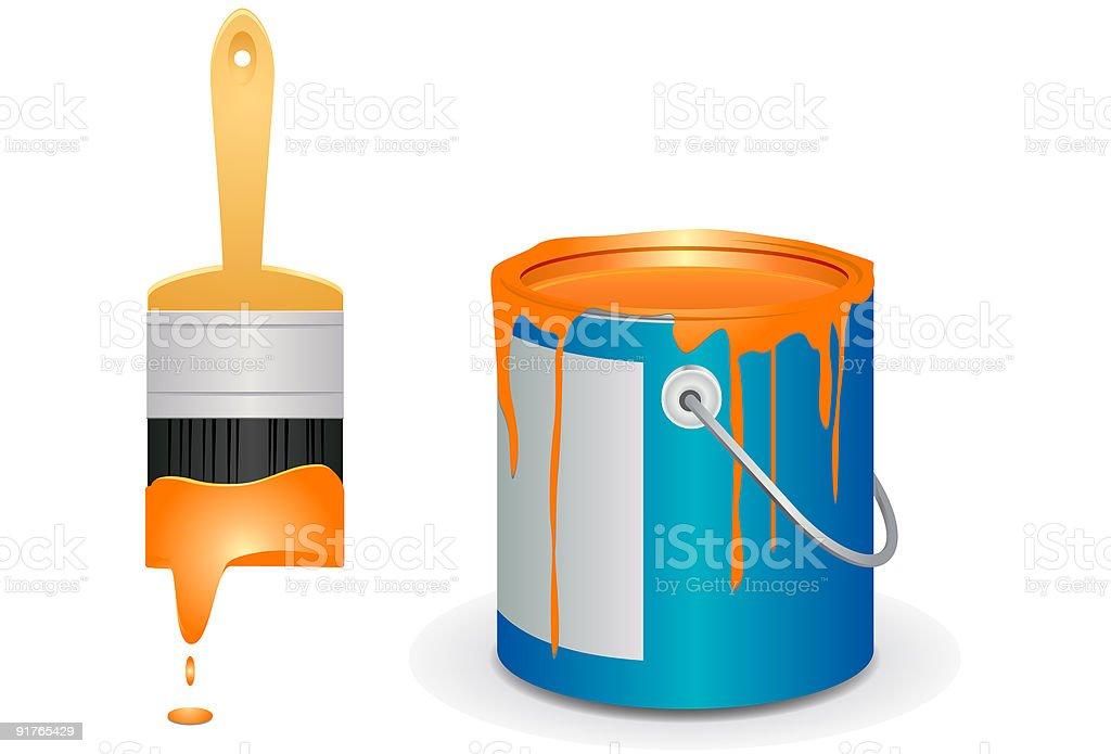 pinceau et le pot de peinture vector ic nes cliparts vectoriels et plus d 39 images de artiste. Black Bedroom Furniture Sets. Home Design Ideas