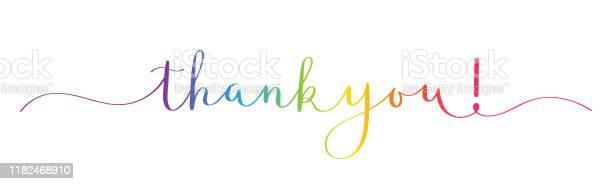 Спасибо Кисть Каллиграфии Баннер — стоковая векторная графика и другие изображения на тему Thank You - английское словосочетание