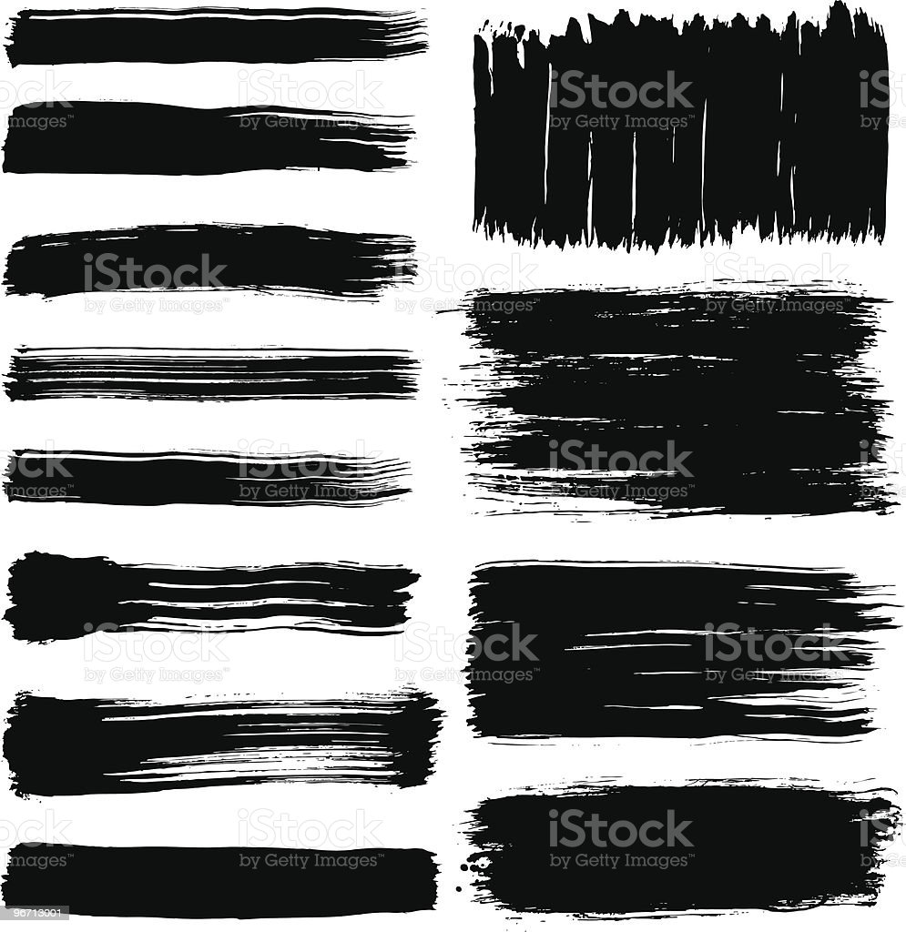 Brush Collection royalty-free stock vector art