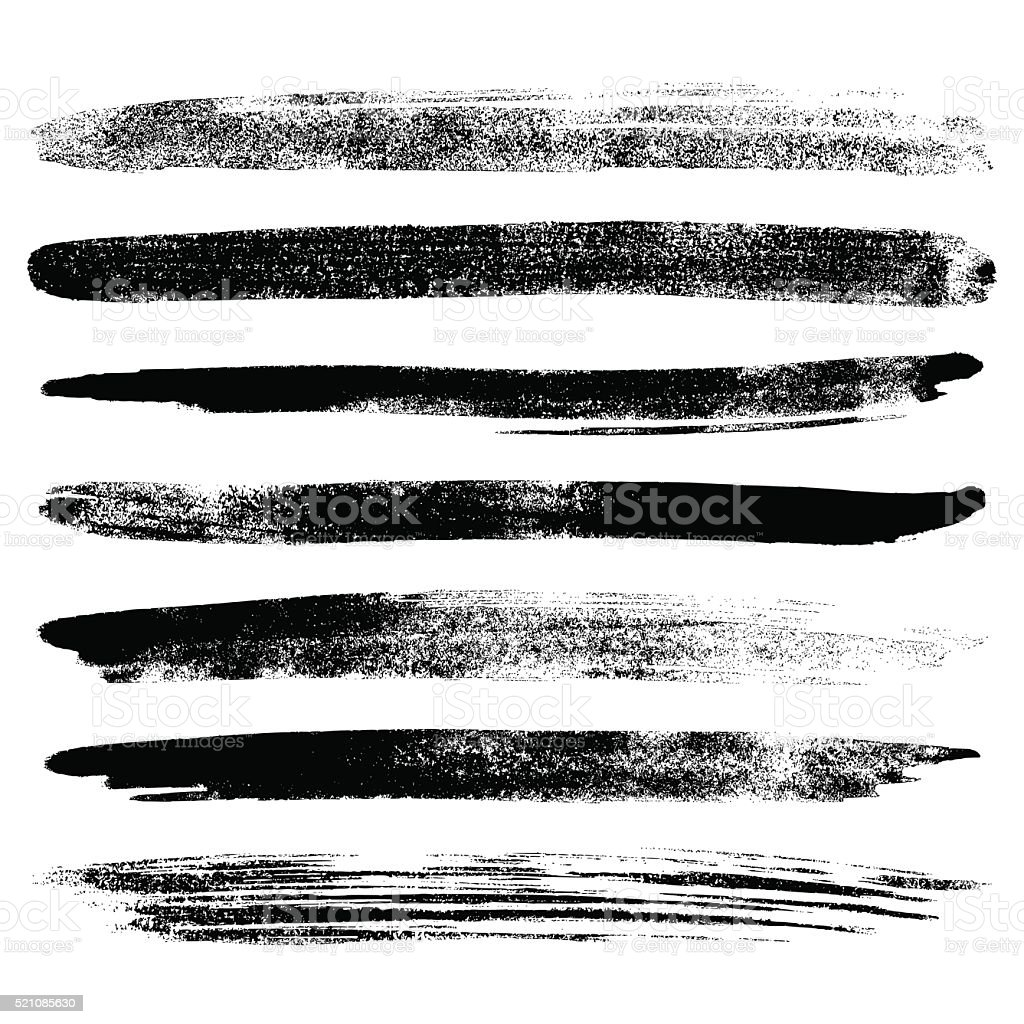 Brush ink set vector art illustration