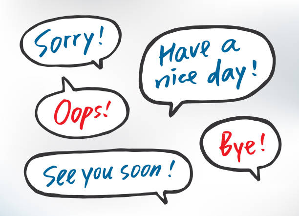 Brush Lettering - Greeting in Speech Bubbles Hand-drawn graphics. All items are grouped individually for easy editing. Download with 1 EPS10. have a nice day note stock illustrations