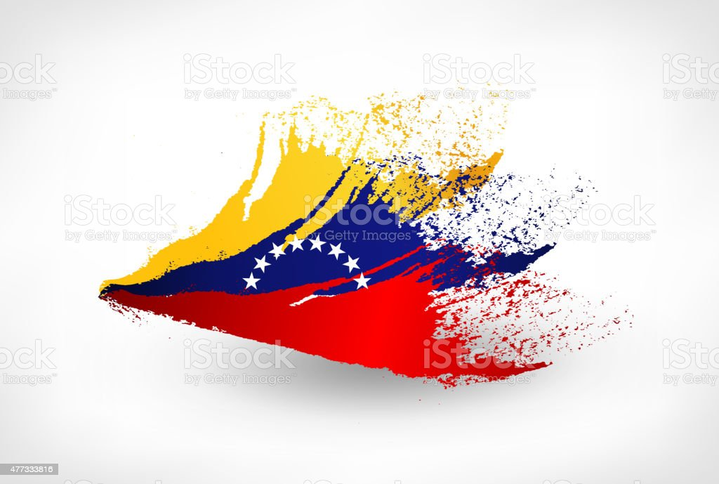 Brush Painted Flag Of Venezuela Stock Vector Art More Images Of