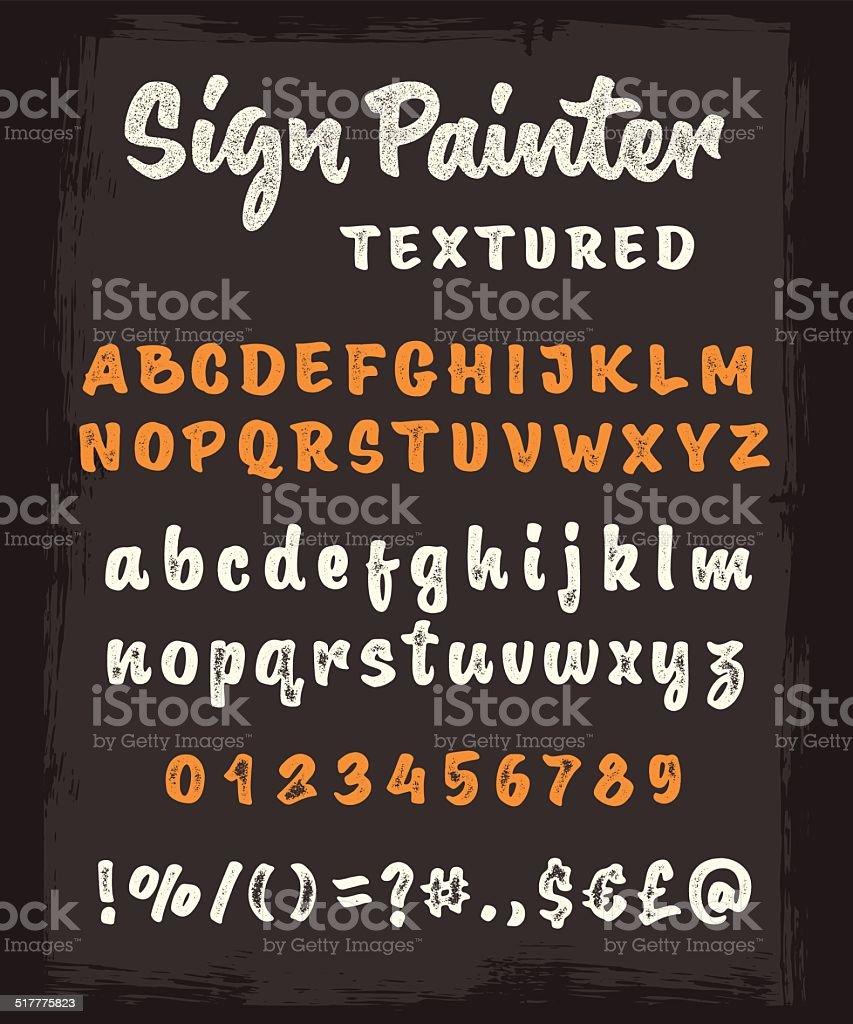Brush script texture Lettre de l'alphabet - Illustration vectorielle