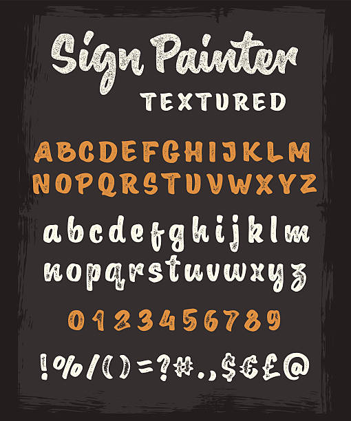 Brush script texture Lettre de l'alphabet - Illustration vectorielle