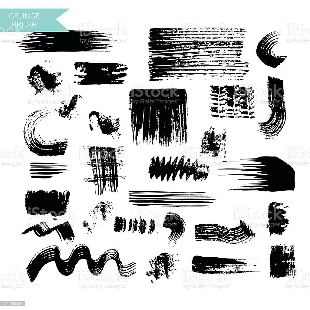 Brush set vector vector art illustration