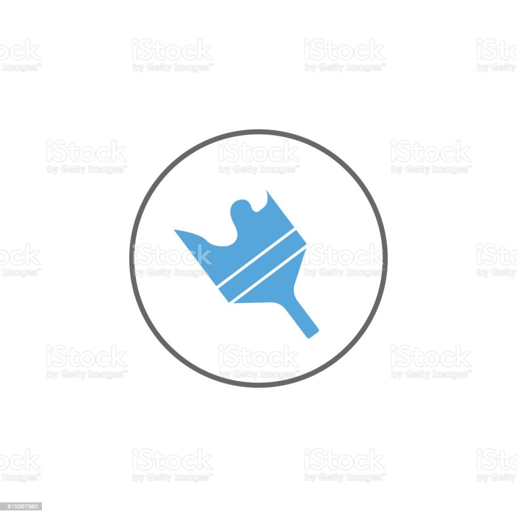 Brush Solid Icon Mobile Sign And Themes Vector Stock