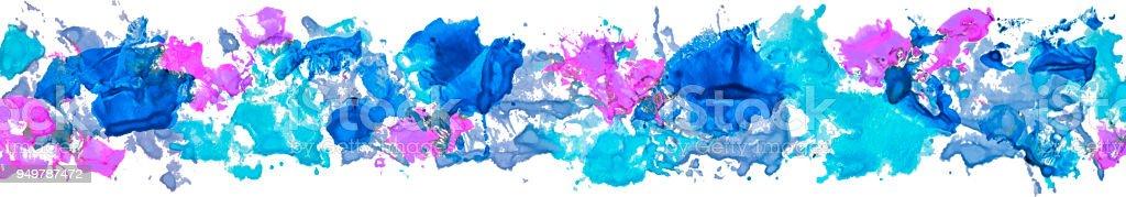 Coup De Pinceau Tache De Peinture Acrylique Frontière Longue De