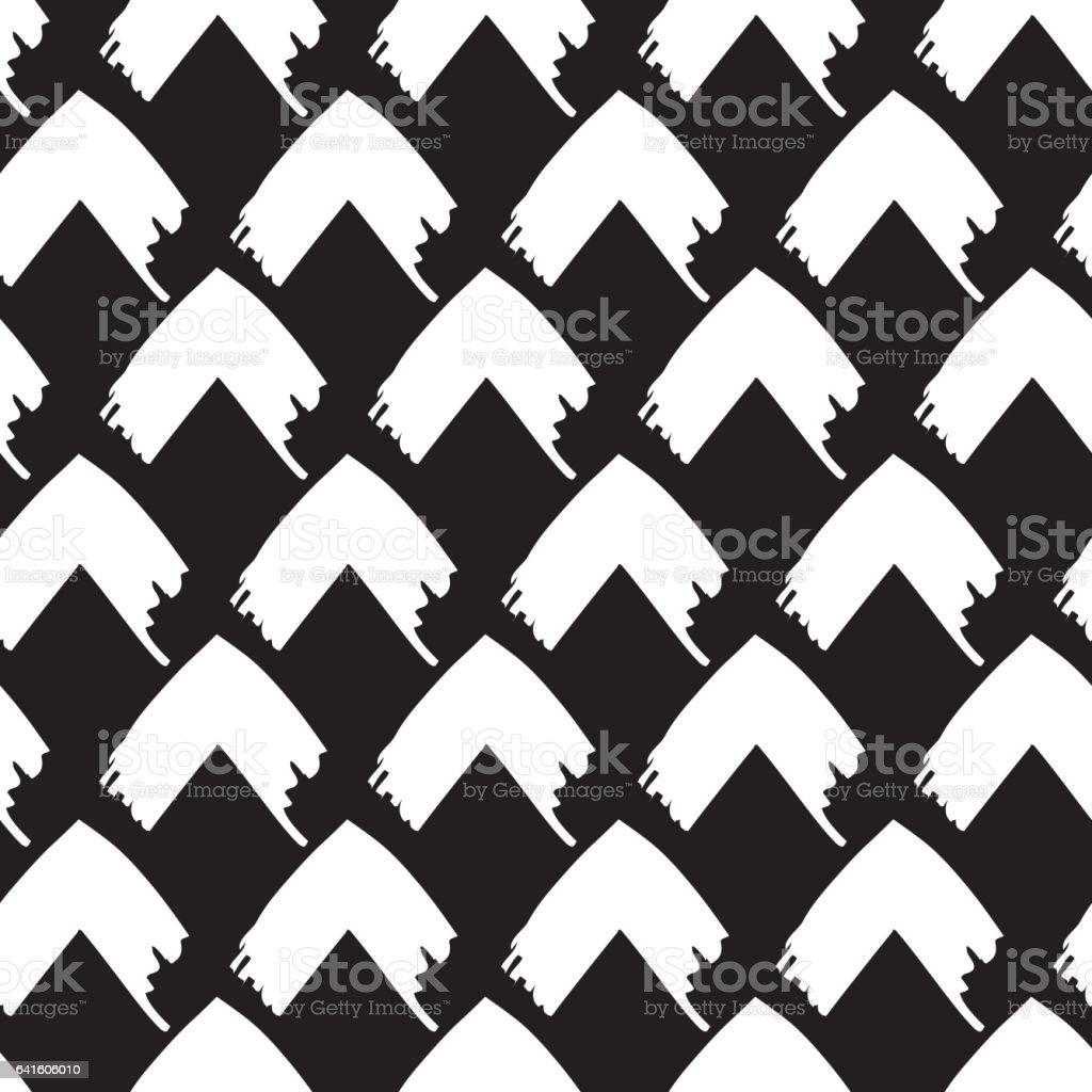Brush Stroke Arrow Pattern vector art illustration
