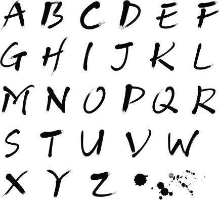 Brush stroke calligraphy font
