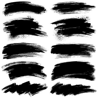 Brush stroke design elements