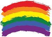 Brush Stroke Rainbow Flag LGBT Movement