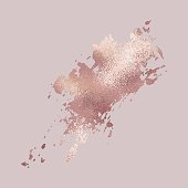 Brush stroke. Rose gold. Elegant metallic texture for the design