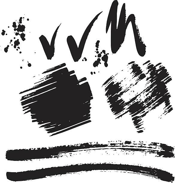 brush stroke vector set. - ブラシ点のイラスト素材/クリップアート素材/マンガ素材/アイコン素材