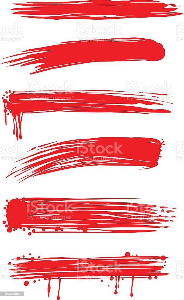 Brush Strokes (vector/esp) - 1 credit royalty-free stock vector art