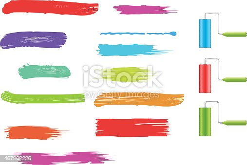 istock Brush strokes collection 467202226