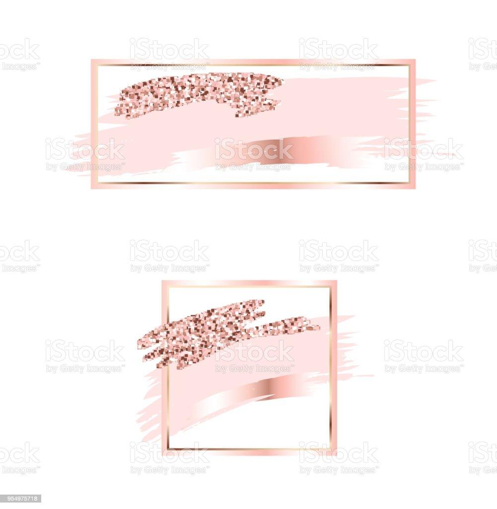 Brush Strokes In Gentle Pink Tonesgentle Pastel Colorsrose Gold