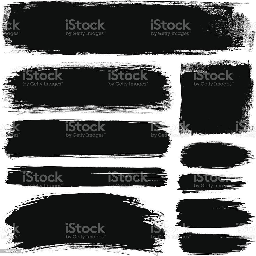 Brush strokes royalty-free stock vector art