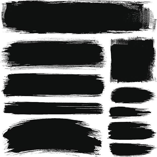 brush strokes - краска stock illustrations