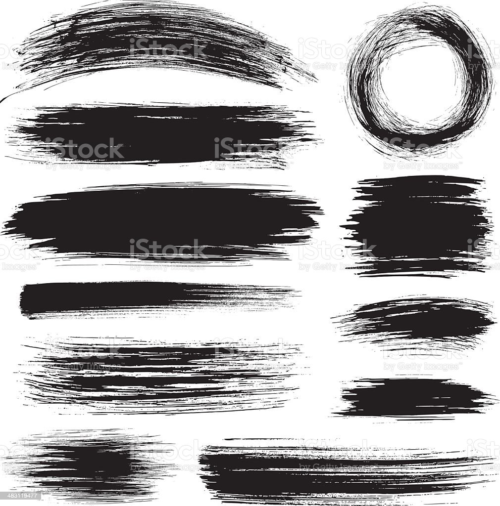 Brush strokes royalty-free brush strokes stock vector art & more images of black color