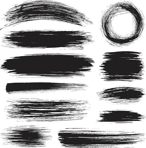 brush strokes - palettenbilderrahmen stock-grafiken, -clipart, -cartoons und -symbole