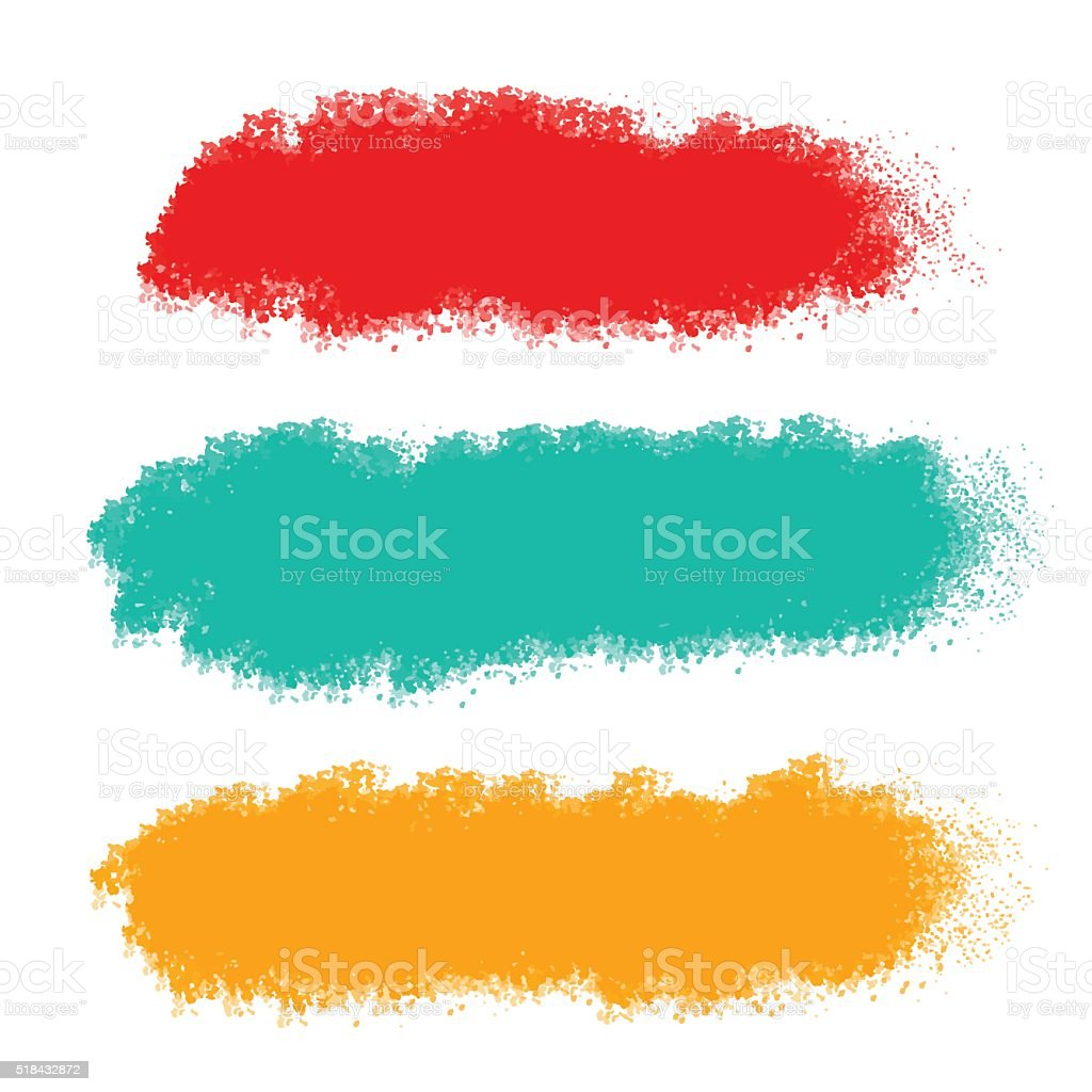 Brush strokes vector art illustration